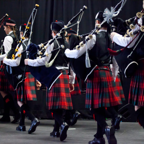 Enter a Pipe Band